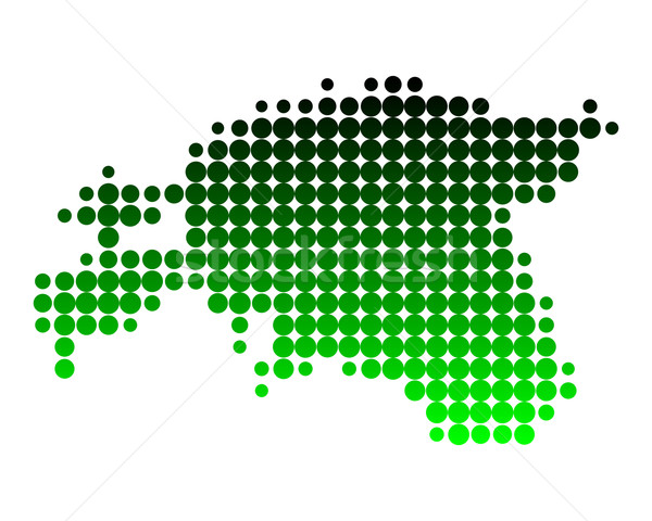 Kaart Estland patroon cirkel punt illustratie Stockfoto © rbiedermann