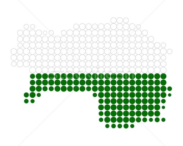 Térkép zászló minta kör szalag pont Stock fotó © rbiedermann