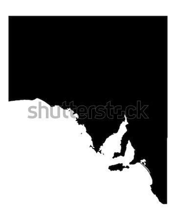 Mapa sul da austrália preto vetor Austrália isolado Foto stock © rbiedermann