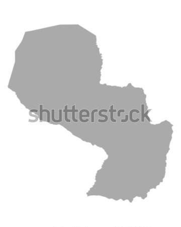 Mappa Paraguay viaggio vettore isolato grigio Foto d'archivio © rbiedermann