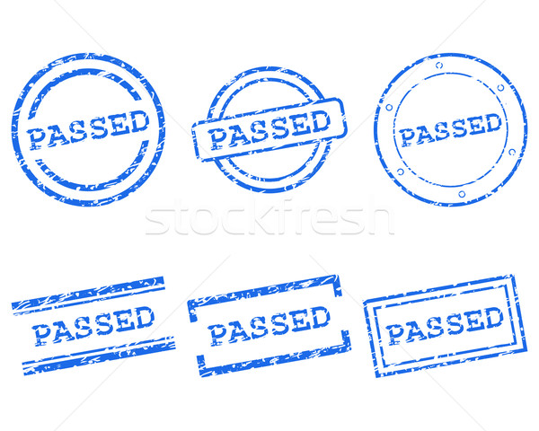 Passed stamps Stock photo © rbiedermann