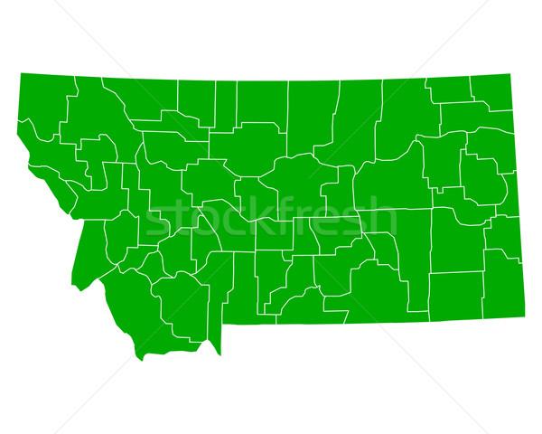 Harita Montana arka plan yeşil hat vektör Stok fotoğraf © rbiedermann