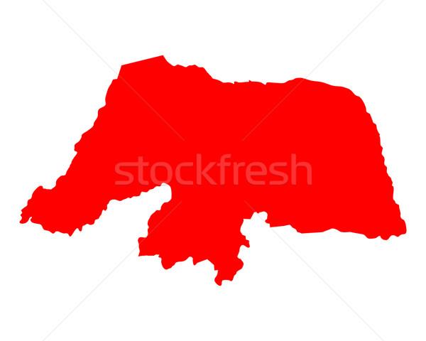 Harita rio arka plan kırmızı hat vektör Stok fotoğraf © rbiedermann