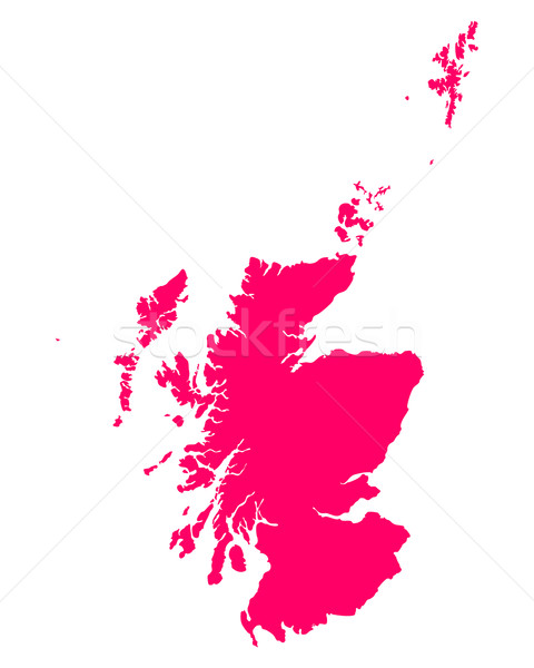 Map of Scotland Stock photo © rbiedermann