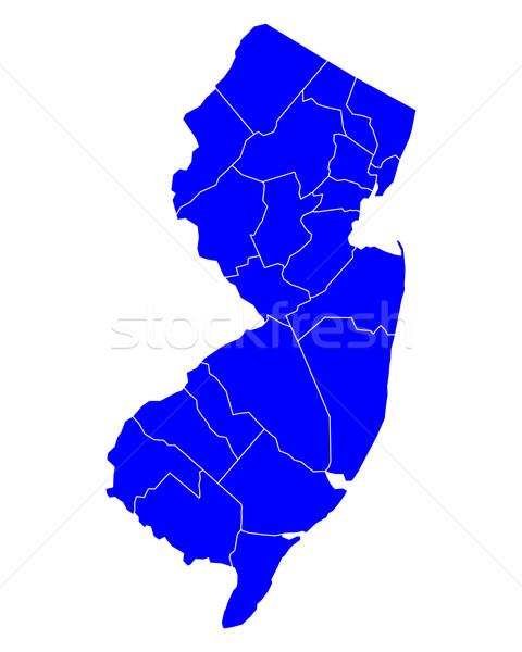 Kaart New Jersey Blauw reizen nieuwe USA Stockfoto © rbiedermann