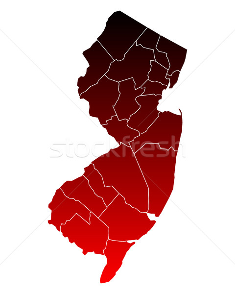 Carte New Jersey Voyage rouge nouvelle USA Photo stock © rbiedermann