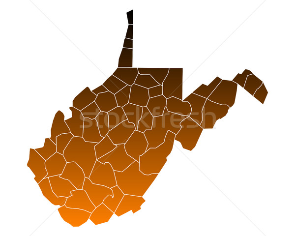 Map of West Virginia Stock photo © rbiedermann