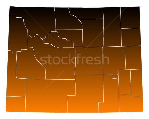 地図 アメリカ合衆国 ベクトル 孤立した 実例 ブラウン ストックフォト © rbiedermann