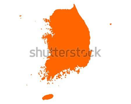 Map of South Korea Stock photo © rbiedermann