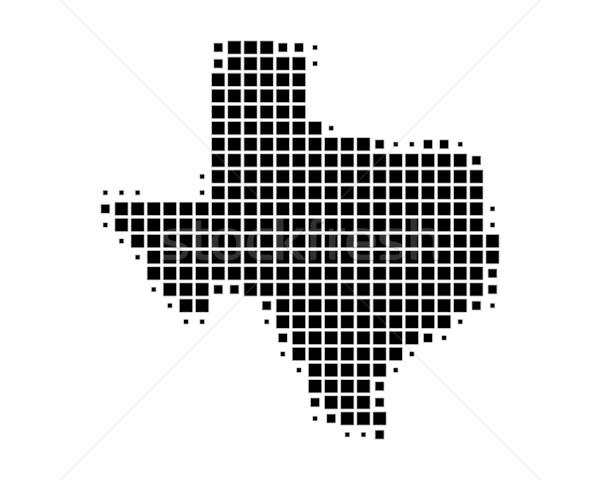 地図 テキサス州 黒 パターン アメリカ 広場 ストックフォト © rbiedermann