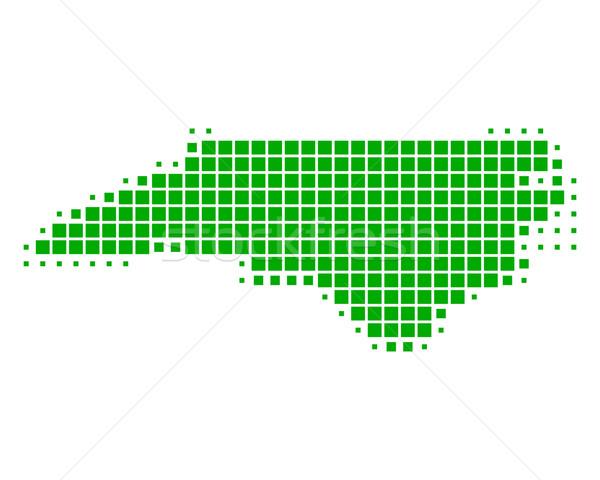 Mappa Carolina del Nord verde pattern america piazza Foto d'archivio © rbiedermann