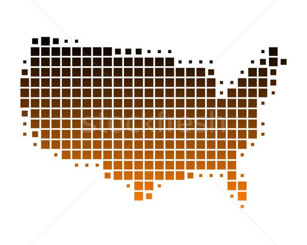 Mapa Estados Unidos américa padrão praça Foto stock © rbiedermann