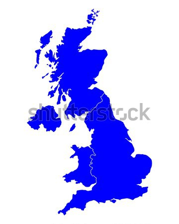 Map of United Kingdom Stock photo © rbiedermann