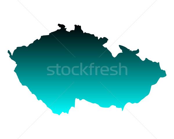 Map of Czech Republic Stock photo © rbiedermann