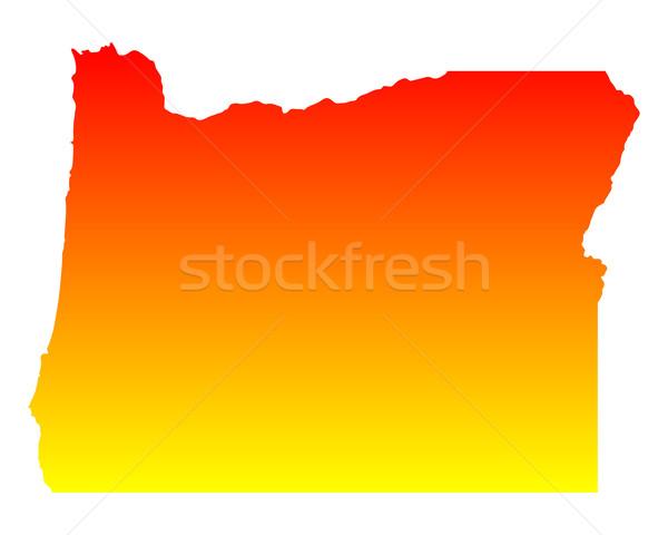 Harita Oregon seyahat Amerika ABD yalıtılmış Stok fotoğraf © rbiedermann