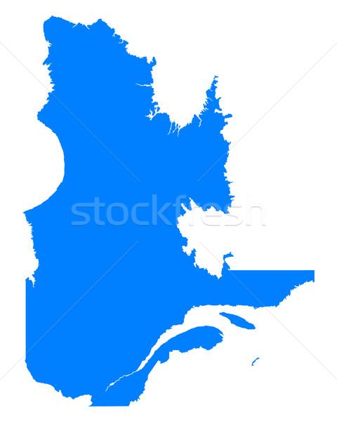 Térkép Quebec kék vektor Kanada izolált Stock fotó © rbiedermann