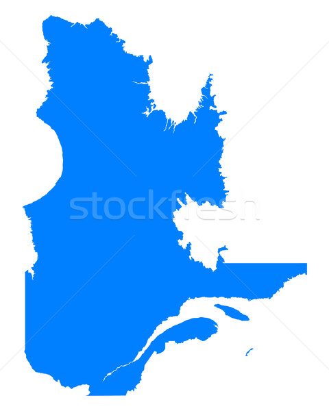 Harita Quebec mavi vektör Kanada yalıtılmış Stok fotoğraf © rbiedermann