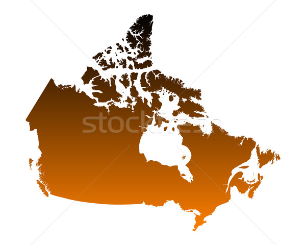 Carte Canada vecteur isolé illustration Photo stock © rbiedermann