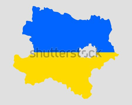 Map and flag of Lower Austria Stock photo © rbiedermann