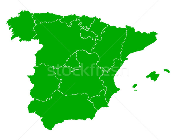 Stock photo: Map of Spain