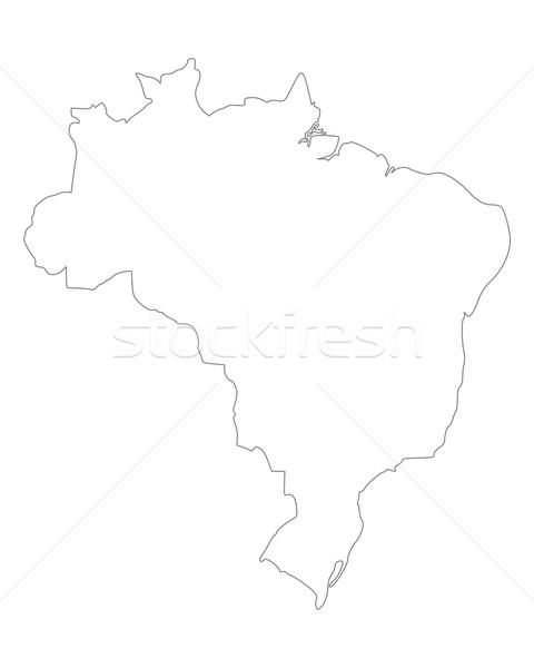 Mapa Brasil aislado ilustración Foto stock © rbiedermann