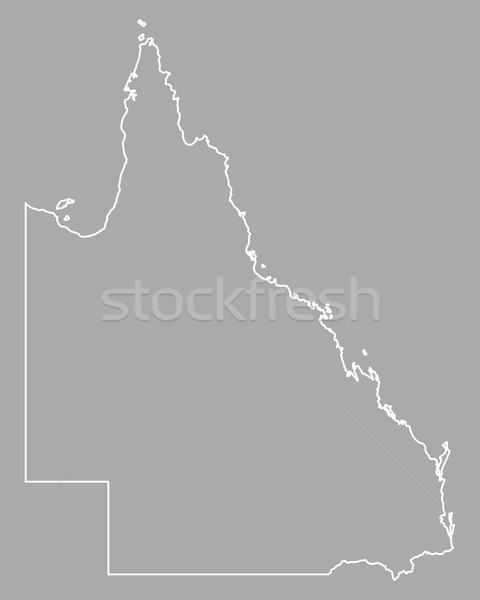Map of Queensland Stock photo © rbiedermann