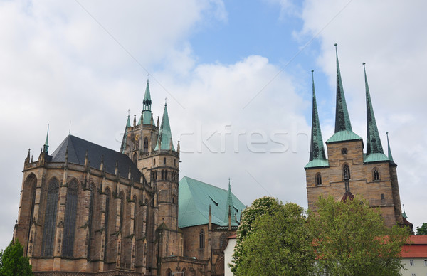 Cathedral and Church of Saint Severus in Erfurt Stock photo © rbiedermann