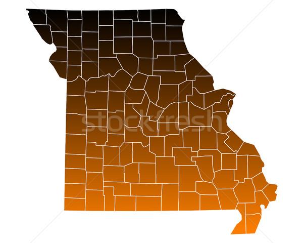 Mapa EE.UU. vector aislado ilustración marrón Foto stock © rbiedermann