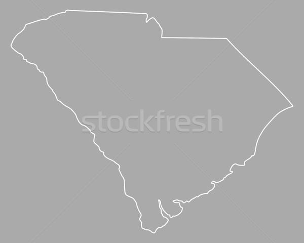 地図 サウスカロライナ州 米国 ベクトル 孤立した 実例 ストックフォト © rbiedermann