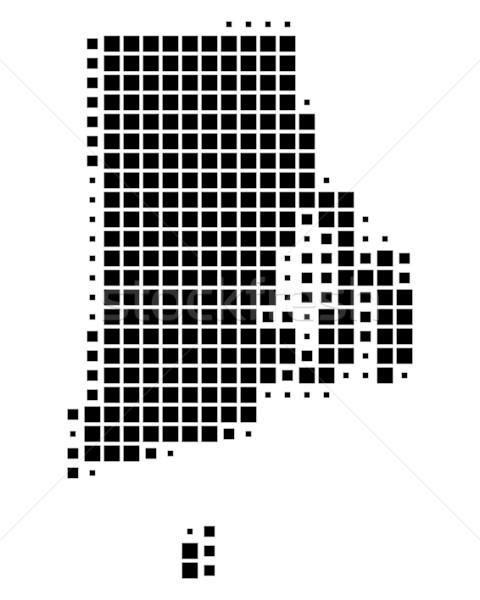 Mapa Rhode Island preto padrão EUA praça Foto stock © rbiedermann