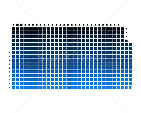 Harita Kansas mavi model Amerika kare Stok fotoğraf © rbiedermann