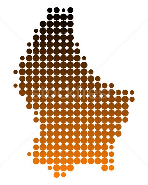 Pokaż Luksemburg wzór kółko punkt wektora Zdjęcia stock © rbiedermann
