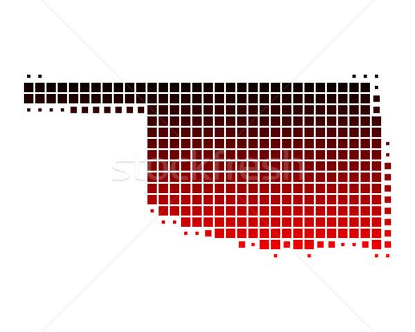 Mapa Oklahoma vermelho padrão américa praça Foto stock © rbiedermann