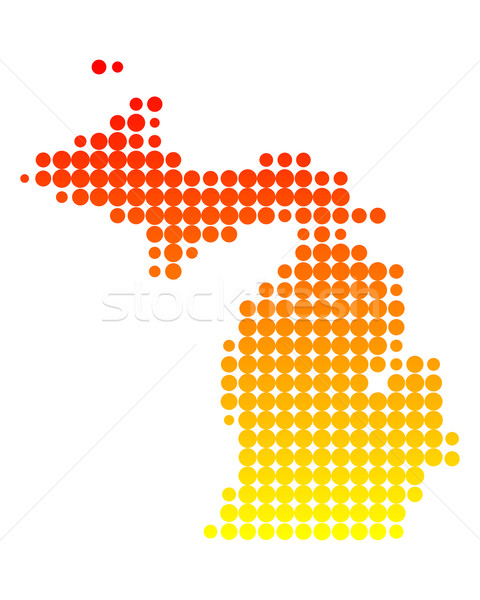 Map of Michigan Stock photo © rbiedermann