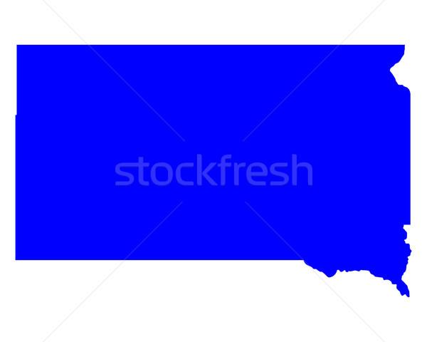 Térkép Dél-Dakota kék utazás Amerika USA Stock fotó © rbiedermann
