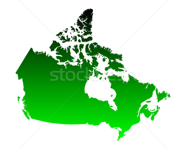 Map of Canada Stock photo © rbiedermann