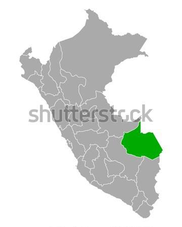 Térkép Guyana zöld vektor izolált Stock fotó © rbiedermann