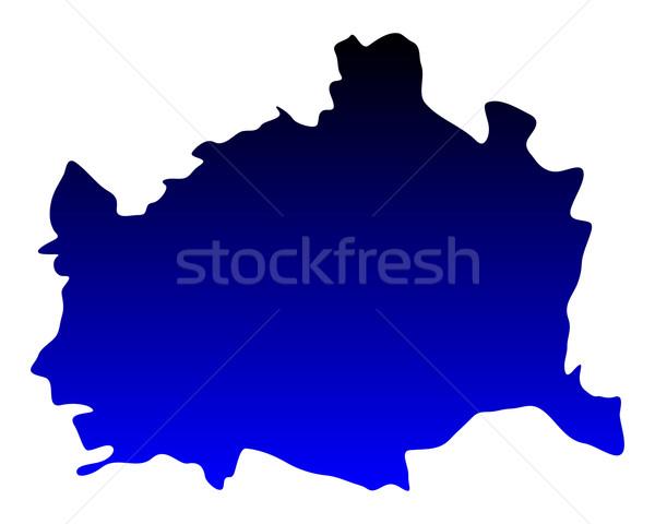 Mapa Viena azul vetor isolado ilustração Foto stock © rbiedermann