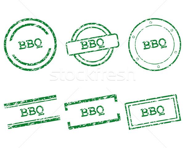 Stock fotó: BBQ · bélyegek · vásárlás · levél · bélyeg · grafikus