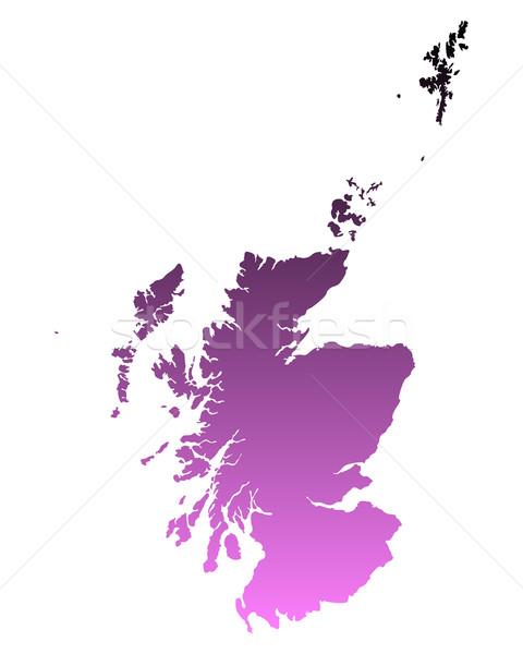 карта Шотландии фон линия Сток-фото © rbiedermann