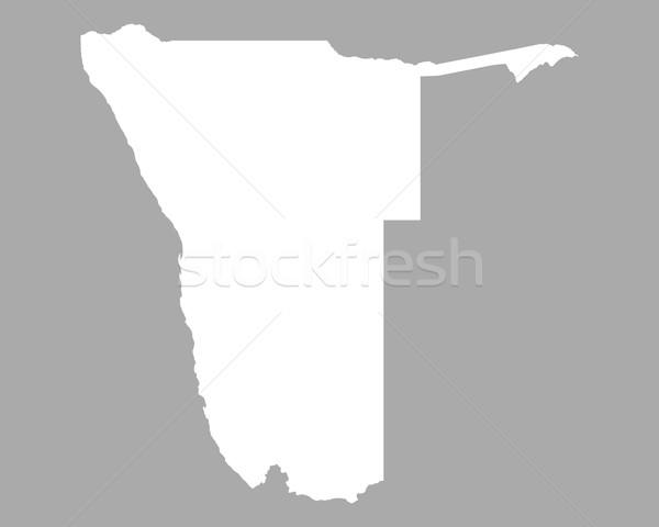 Térkép Namíbia háttér fehér vonal Stock fotó © rbiedermann