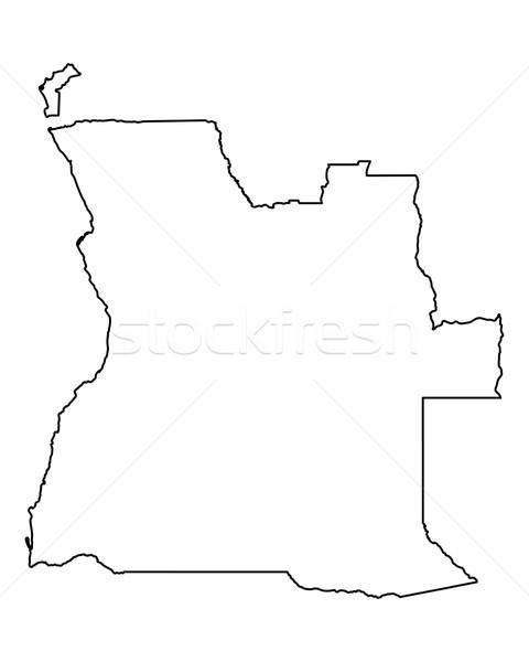 карта Ангола вектора изолированный серый Сток-фото © rbiedermann