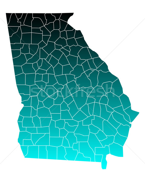 Térkép Grúzia zöld kék utazás USA Stock fotó © rbiedermann
