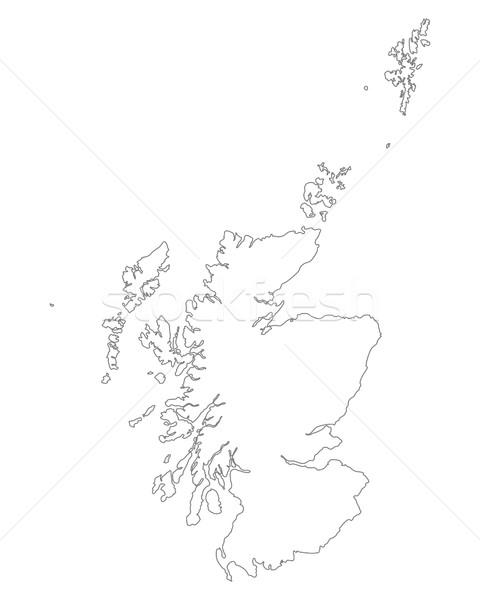 Mapa escócia fundo isolado ilustração Foto stock © rbiedermann