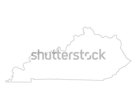 Kaart Kentucky achtergrond lijn USA Stockfoto © rbiedermann
