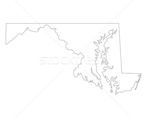 карта Мэриленд фон линия США Сток-фото © rbiedermann