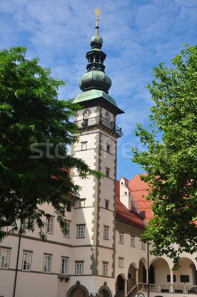 Austria podróży architektury wieża miasta turystyki Zdjęcia stock © rbiedermann