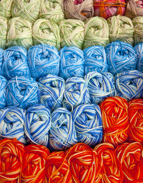 пряжи рынке ткань цветами красивой продажи Сток-фото © rbouwman