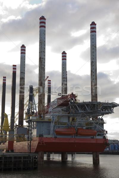 буровая небе строительство промышленных энергии Сток-фото © rbouwman