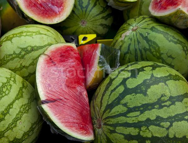 арбуза рынке зеленый осень сельского хозяйства Sweet Сток-фото © rbouwman